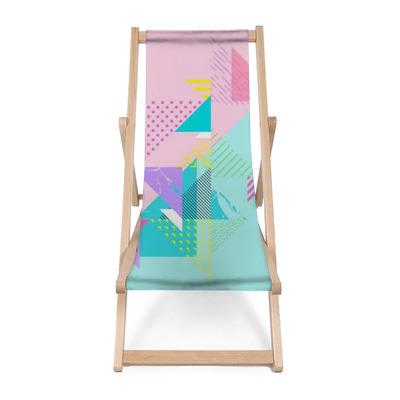 Sedia a sdraio Composizione geometrica astratta colorata