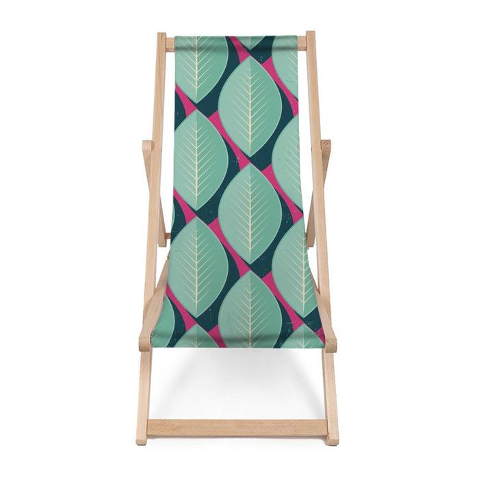 Leżak plażowy Wektor kolorowe abstrakcyjne retro geometryczny wzór - Kwiaty i rośliny
