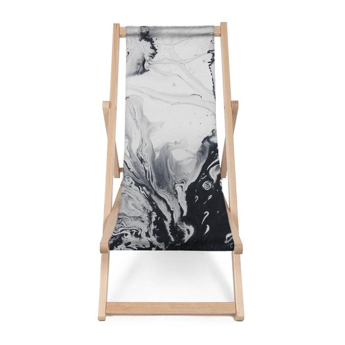 Tumbona Fondo pintado a mano abstracto creativo mármol blanco y negro - Recursos gráficos