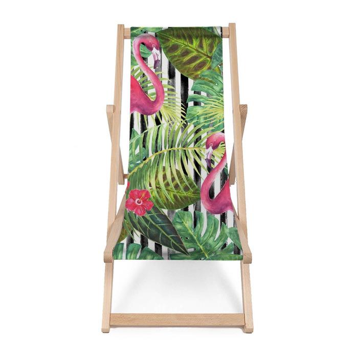 Leżak plażowy Modny egzotyczny wzór - Rośliny i kwiaty