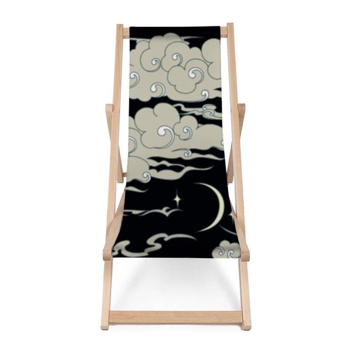 Leżak plażowy Bez szwu wzór chmury - Zasoby graficzne