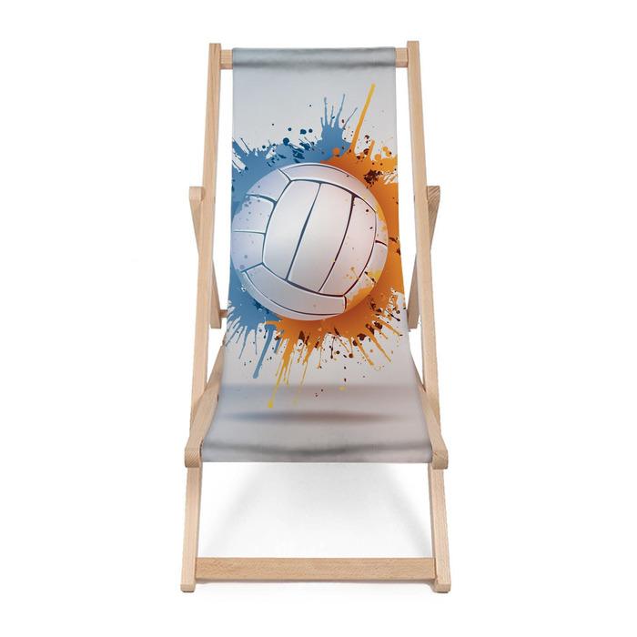 Leżak plażowy Siatkówka w Paint Ball na tle Vignette. Vector. - Siatkówka