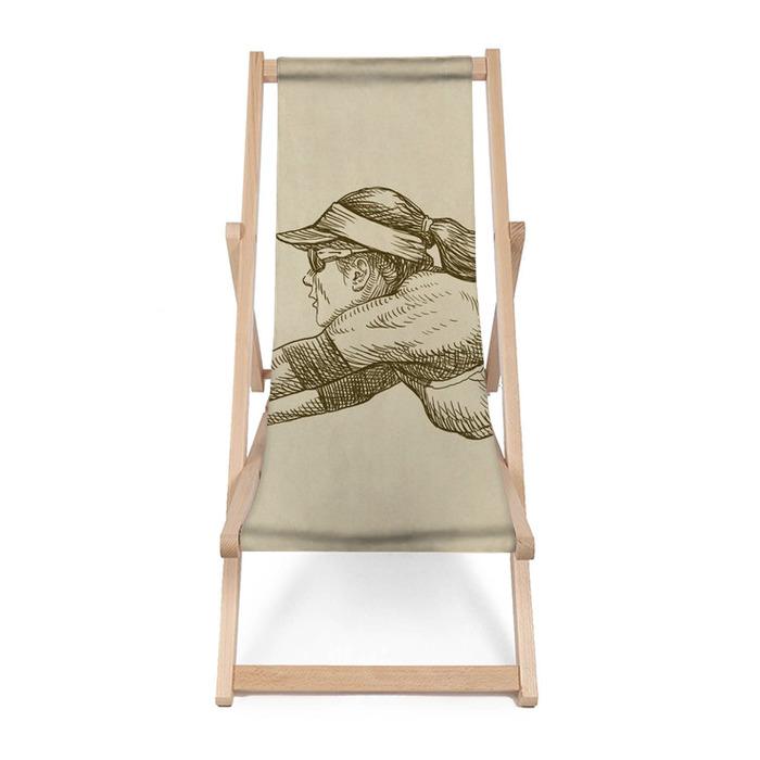 Leżak plażowy Siatkarz - rysunek - Siatkówka