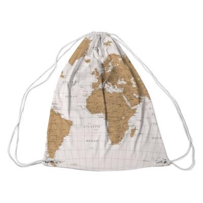 Wektor wzór mapy świata Plecaki