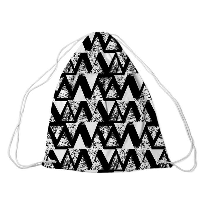 Ręcznie malowany odważny wzór z trójkątami Plecaki - Zasoby graficzne