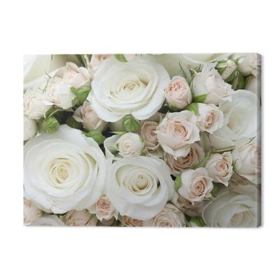 Wedding bouquet of pinkand white roses Premium prints