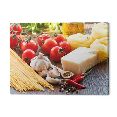 Raw pasta ingridients Premium prints