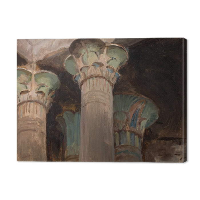 Jan Ciągliński - Capitals in the Temple of Isis. From the Journey to Greece. Premium prints - Reproductions