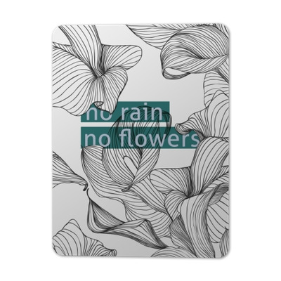 No rain, no flowers Metal Prints