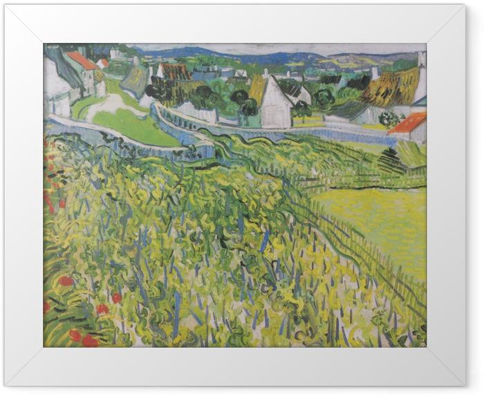 Poster en cadre Vincent van Gogh - Vignobles à Auvers - Reproductions