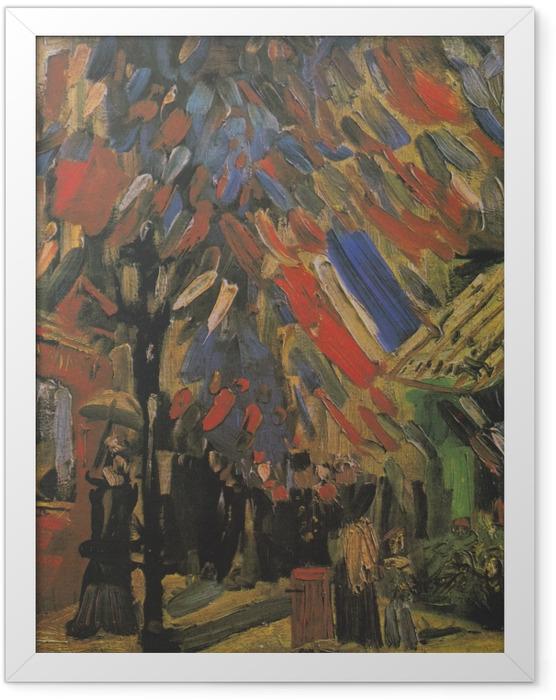 Poster en cadre Vincent van Gogh - Le 14 Juillet - Reproductions