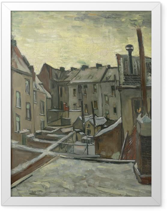 Plakat w ramie Vincent van Gogh - Podwórko starych domów w Antwerpii - Reproductions