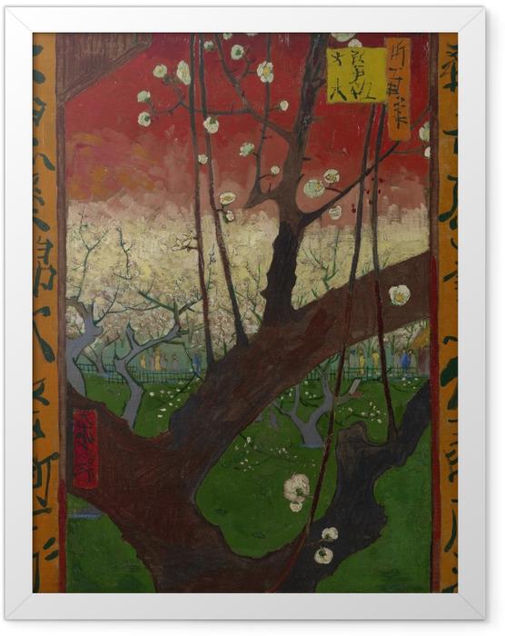 Poster en cadre Vincent van Gogh - Le Prunier en Fleurs - Reproductions