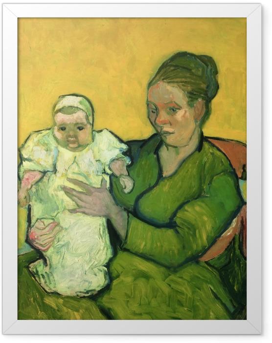 Plakat w ramie Vincent van Gogh - Pani Roulin z synkiem Marcellem - Reproductions