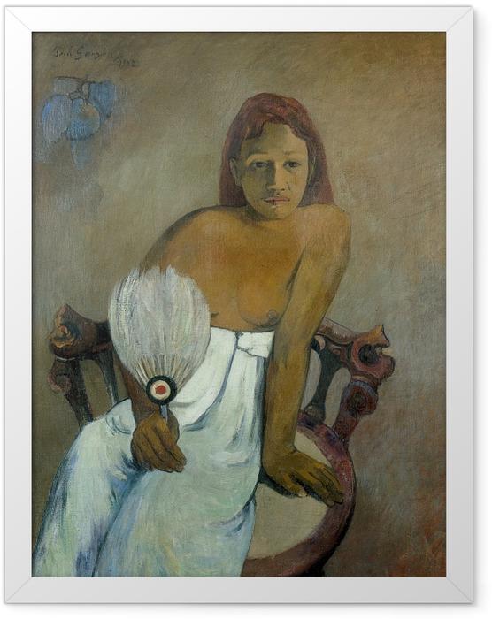Poster en cadre Paul Gauguin - Fille avec un ventilateur - Reproductions