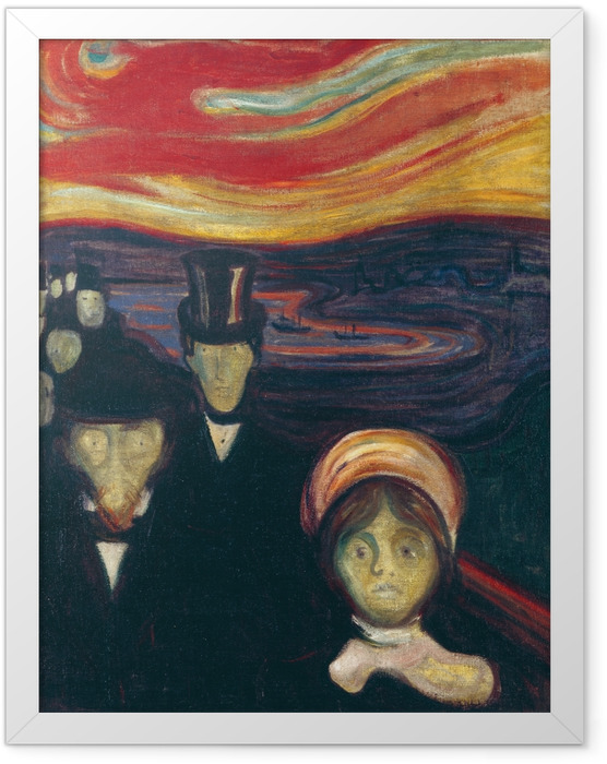 Plakat w ramie Edvard Munch - Niepokój - Reprodukcje