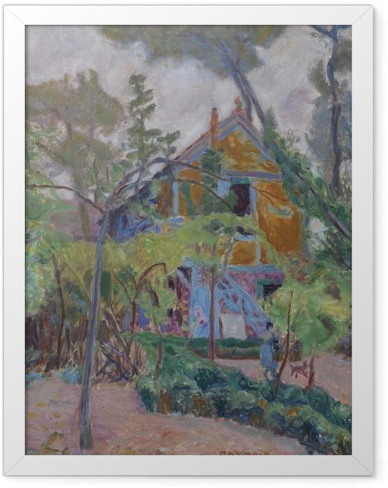 Poster en cadre Pierre Bonnard - Maison parmi les arbres - Reproductions