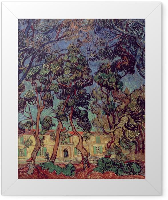 Poster en cadre Vincent van Gogh - Hôpital de Saint-Remy - Reproductions