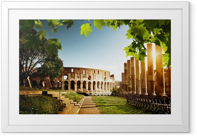 Colosseum in Rome, Italy Framed Poster