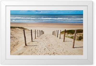 Gerahmtes Poster Weg zum Strand