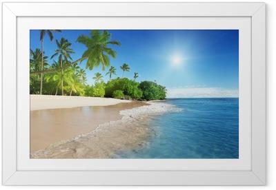 Póster Enmarcado El mar caribe y las palmas