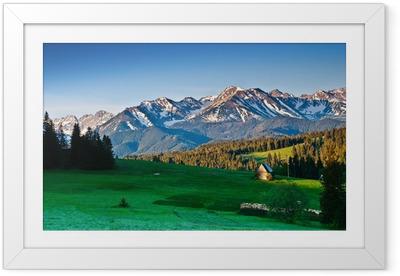 Ingelijste Poster Poolse Tatra gebergte panoram in de ochtend