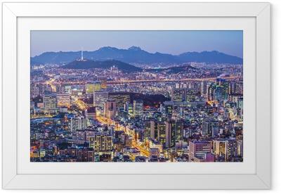 Seoul horisonttiin Kehystetty juliste