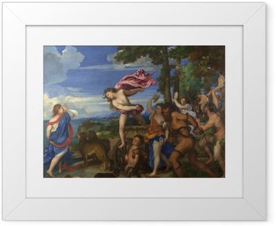 Ingelijste Poster Titiaan - Bacchus en Ariadne