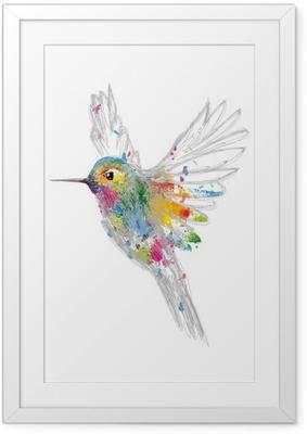 Poster in Cornice Hummingbird