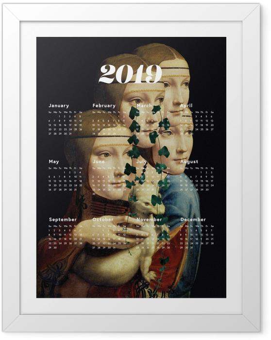 Póster com Moldura Kalendarz 2019 - mulheres e arte -