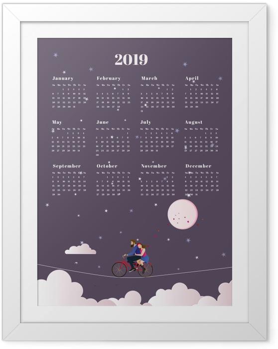 Poster en cadre Calendrier 2019 - voyage -