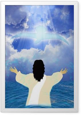 Poster in Cornice Battesimo di Gesù