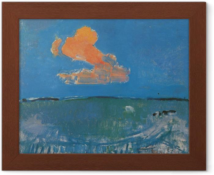 Póster Enmarcado Piet Mondrian - La nube roja - Reproducciones