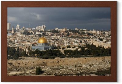The holy city Jerusalem from Israel Framed Poster