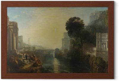 Poster en cadre William Turner - Le déclin de l'empire carthaginois