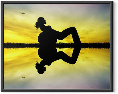 Poster in Cornice Pilates al tramonto