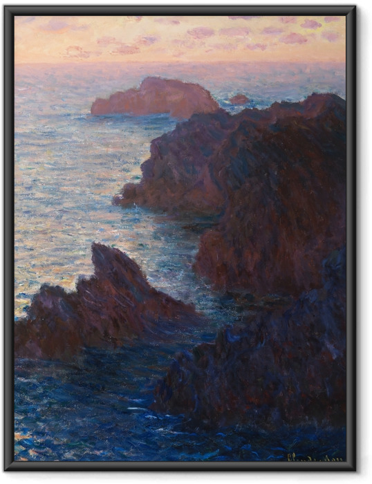 Plakát v rámu Claude Monet - Port Domois v Belle Ile - Reprodukce