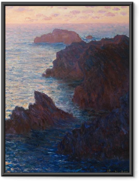 Poster in Cornice Claude Monet - Port Domois a Belle Ile - Riproduzioni