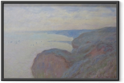 Claude Monet - Steef Cliffs nær Dieppe Indrammet plakat