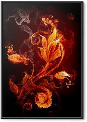 Ingelijste Poster Fire Flower