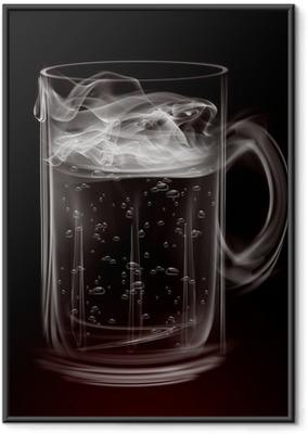 Poster en cadre Artistique tasse de bière fumée