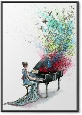 Póster Enmarcado Música de piano de cola (serie C)