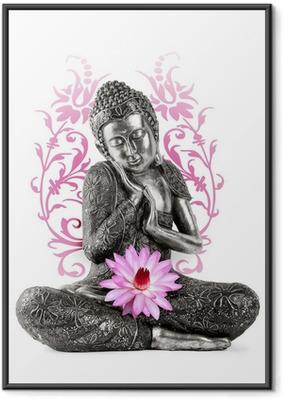 Statue de Bouddha Framed Poster