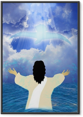 Baptism of Jesus Framed Poster