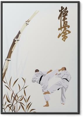 Ingelijste Poster Karate beroepen