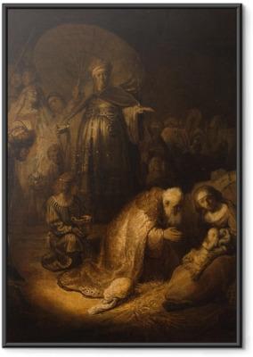 Rembrandt - Kuninkaiden kumarrus Kehystetty juliste