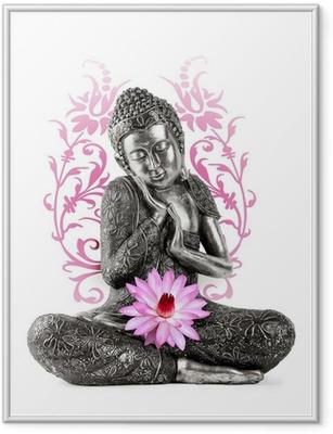 Plakát v rámu Buddha socha