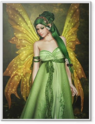Forest Fairy Framed Poster