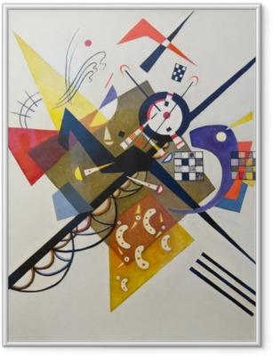 Poster en cadre Vassily Kandinsky - Sur blanc no 2