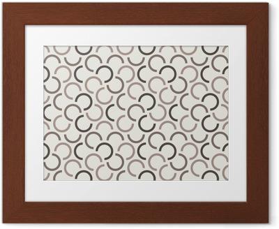 Poster en cadre Répétant le modèle sans couture géométrique. illustration vectorielle
